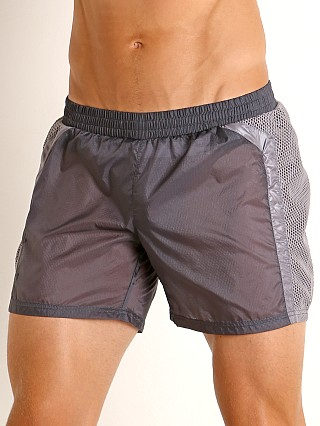 Model in grey Nasty Pig Visibility Rugby Short