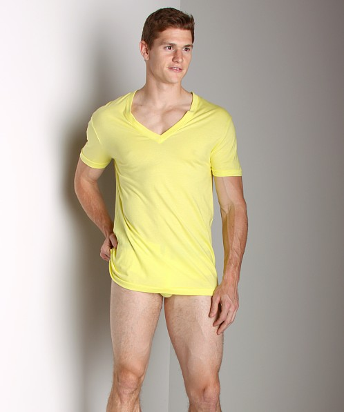 C-IN2 Prime Deep Vee Neck Shirt Lime Light