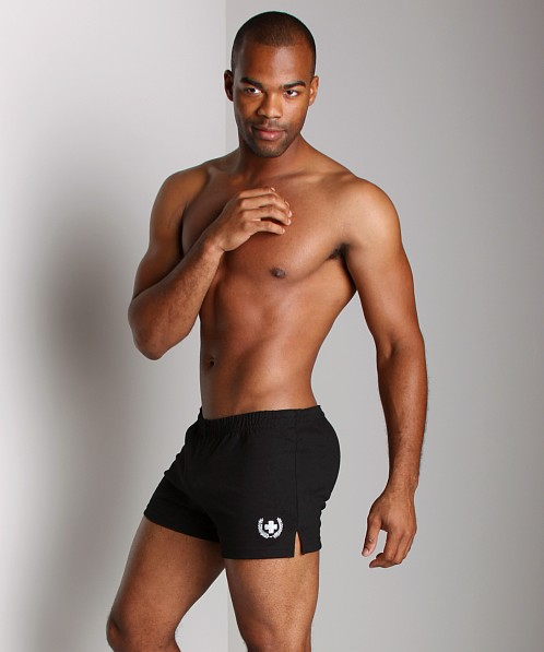 Andrew Christian Laurel Retro Gym Shorts Black