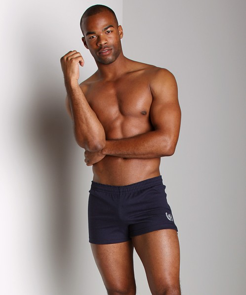 Andrew Christian Laurel Retro Gym Shorts Navy