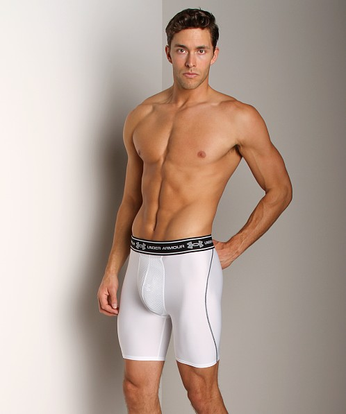 Under Armour HeatGear Compression Short with Cup White