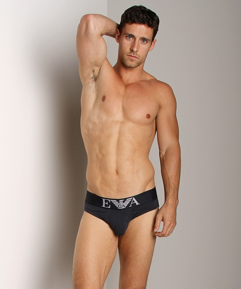 Emporio Armani Stretch Cotton Brief Marine