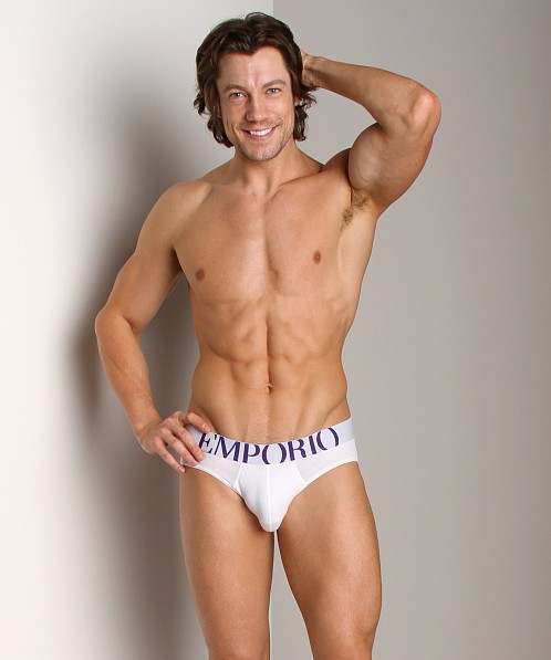 Emporio Armani Eagle Stretch Cotton Brief White