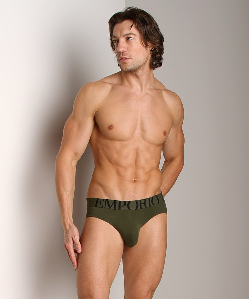 Emporio Armani Eagle Stretch Cotton Brief Musk