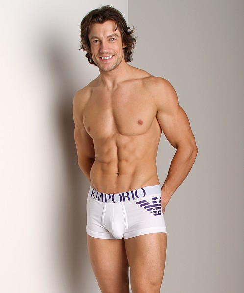 Emporio Armani Eagle Stretch Cotton Trunk White