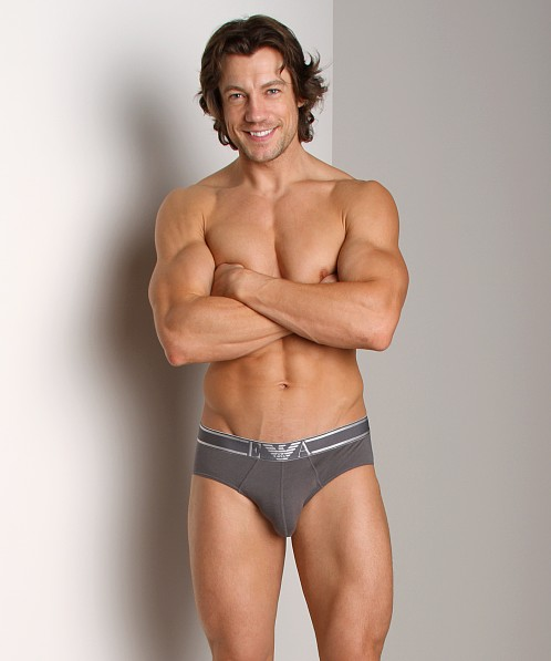 Emporio Armani Soft Cotton Brief Asphalt Grey