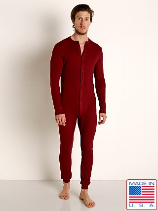 Rick Majors American Classic Back Flap Union Suit Burgundy