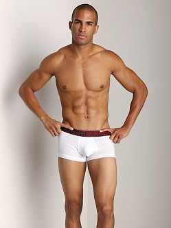 2xist Tartan No-Show Trunk White
