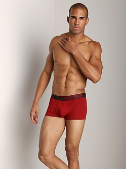 2xist Tartan No-Show Trunk Red Dahlia