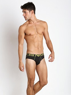 Emporio Armani Brushed Microfiber Brief Black