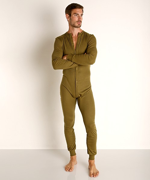 Rick Majors American Classic Back Flap Union Suit Army
