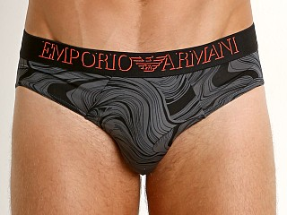 Emporio Armani Magmatic Waves Brief Anthracite Waves/Black