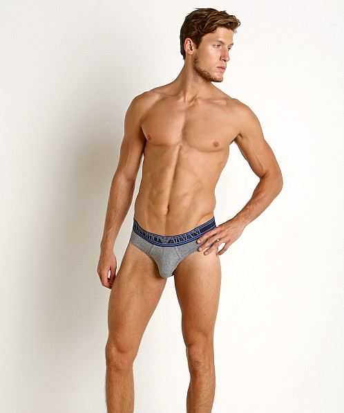 Emporio Armani Highlighted Logo Brief Dark Grey Melange