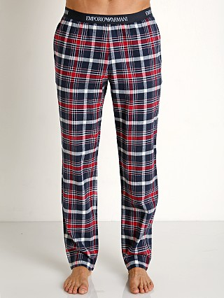 Emporio Armani Yarn Dyed Woven Pants Marine Check/Red