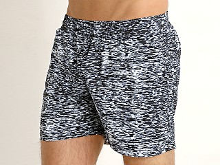 St33le Stretch Performance Shorts Textured Black Zigzag