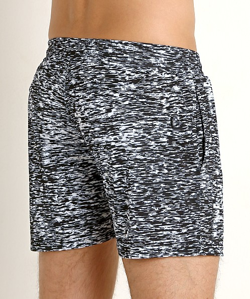 St33le Stretch Performance Shorts Black Space Dye