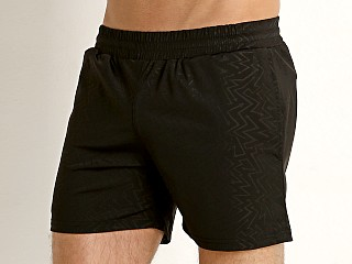 St33le Stretch Performance Shorts Black Zigzag