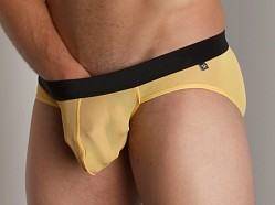 Tulio Power Pouch Mesh Brief Yellow