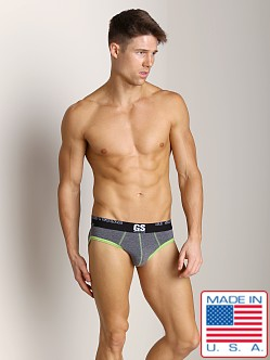 Go Softwear Glow Cut-Out Brief Heather Charcoal/Lime