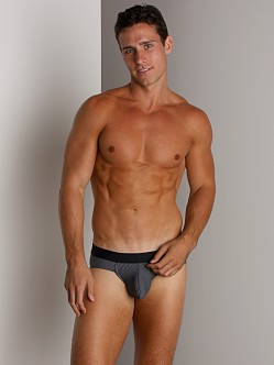 Tulio Pinstripe Contrast Waistband Brief Black