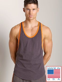 Go Softwear Active Muscle Y-Back Tank Charcoal/Orange