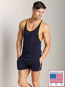 Go Softwear Active Muscle Y-Back Tank Navy/Yellow