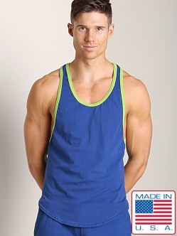Go Softwear Active Muscle Y-Back Tank Cadet/Lime
