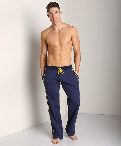 Go Softwear Active Workout Pant Navy/Yellow