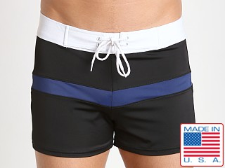 Sauvage Sporty Style Swim Trunks Black/Blue