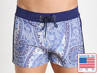 Sauvage Italian Microfiber Swim Trunk Blue Gypsy