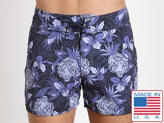 Sauvage Laguna Surf Short Navy Tiger Print