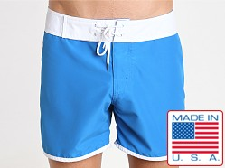 Sauvage Promenade Slim Fit Surf Short Turquoise