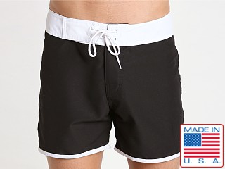 Sauvage Promenade Slim Fit Surf Short Black