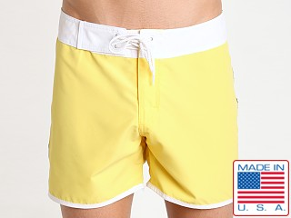 Sauvage Promenade Slim Fit Surf Short Lemon