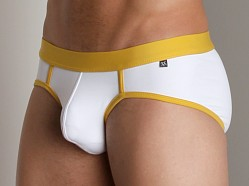 Tulio C-Ring Backstrap Brief White/Yellow