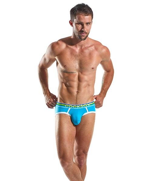 CockSox Enhancer Pouch Supplex Sports Briefs Baseline Blue