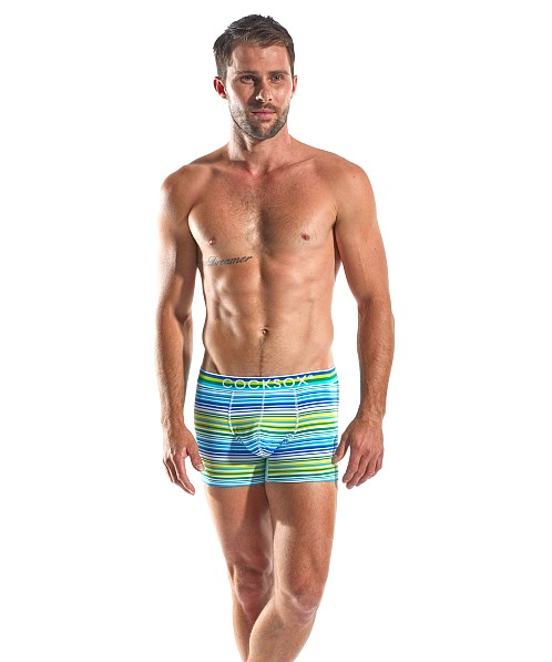 Cocksox Contour Pouch Supplex Boxer Topspin Stripes