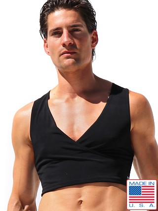 Rufskin Barbare Crossed V-Neck Torso Tank Top Black