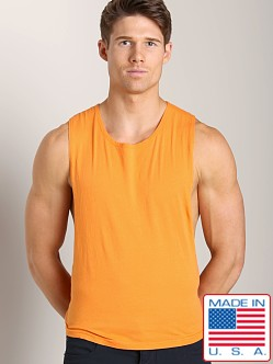 LASC Deep Cut Out Tee Orange Sizzle