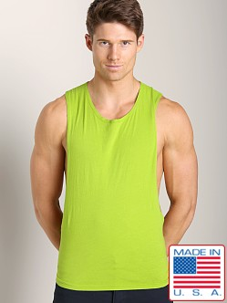 LASC Deep Cut Out Tee Neon Lime