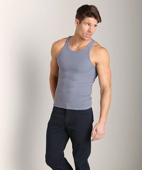 LASC Ribbed Tank Charcoal Thunder