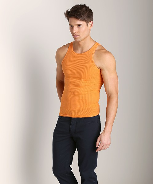 LASC Ribbed Tank Orange Sizzle