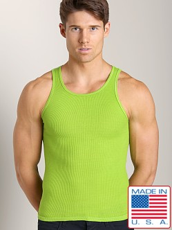 LASC Ribbed Tank Neon Lime