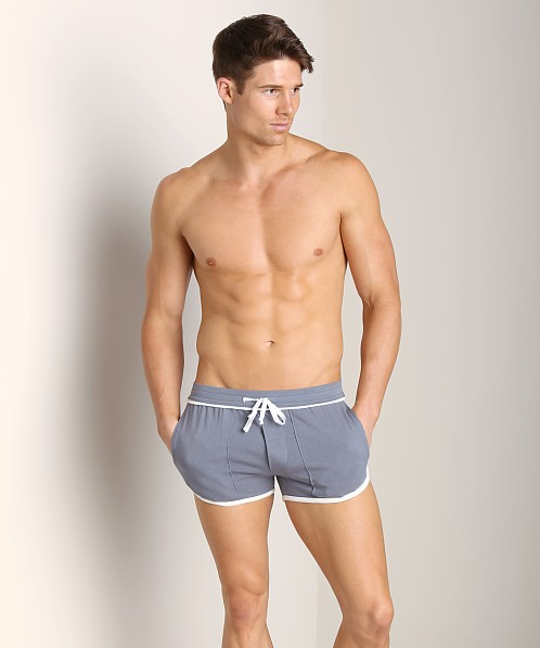 LASC Short Short Charcoal/White