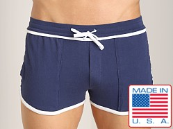 LASC Short Short Navy/White