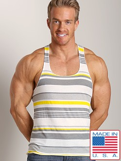 LASC Stripe String Tank Grey/Yellow