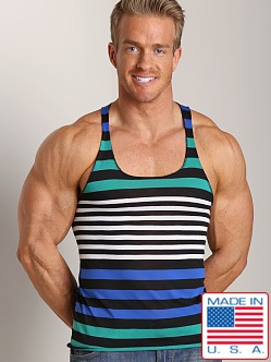 LASC Stripe String Tank Black/Royal