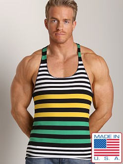 LASC Stripe String Tank Black/Gold