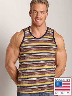 LASC Retro Stripe Tank Gold