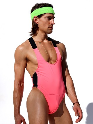 Complete the look: Rufskin Core Neon Sport Thong Bodysuit Pink AF